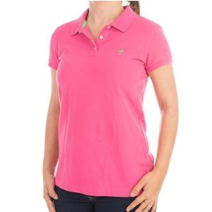 Lilly Pulitzer Pink Island Polo Shirt